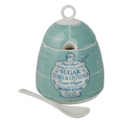 Martin Wiscombe Ceramic Lidded Sugar Pot with Spoon