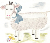 Vintage Crochet PATTERN to make - Barn Billy Goat Stuffed Soft Toy Animal. NOT a finished item. This is a pattern and/or instructions to make the item only.