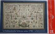Sampler 1790 Dutch Beauty, Permin of Copenhagen Cross Stitch Chart Danish Art Needlework