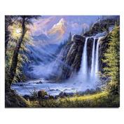 Waterfall new needlework full square drill diamond painting diy cross stitch diamond embroidery mosaic Home decoration