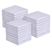 Outus 7.6cm by 7.6cm Mini Canvas Panels for Painting Craft Drawing, 24 Pack