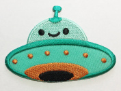 cute Alien UFO DIY Applique Embroidered Sew Iron on Patch p#2