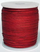 Maine Thread - Blue Bird 1.5mm Dark Red Polished Braided Cotton Cord. 100 metres per spool. Includes 1 spool.