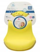SALE Waterproof Premium Super Soft Silicone Kid Infant Baby Bib W Pocket by Bambini Bear Comfortable Keep Stains Off FOOD-GRADE SILICONE BPA FREE EASY CLEAN - Yellow