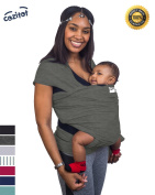 Slate Grey Baby Sling Carrier Wrap by Cozitot   Soft & Stretchy Baby Carrier   Baby Wrap Sling   Small to Plus Size Baby Sling   Nursing Cover   Best Baby Shower Gif