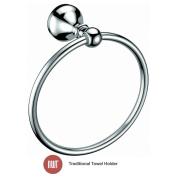 """""""winchester"""" Chrome Wall Mounted Towel Ring Holder - Nwt Bathroom Accessories"""