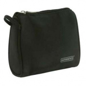Authentics In Case Cosmetic Bag Large Microfiber Black Nylon Lining 23x23x8 Cm