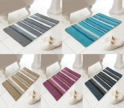 Stripe Bathroom Mats 100% Cotton ~ Highly Absorbent Thick ~ Modern Shower Mat