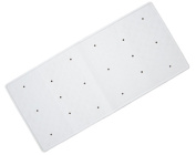 Traditional Rubber Bath Mat - White