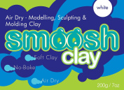 Make your own - Smoosh white air dry clay - moulding, modelling & sculpting craft clay for adults & kids. Soft & easy doh to play with, great for back to school supplies & art supplies - toy craft kit