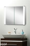 Led Illuminated Bathroom Mirrored Cabinet 65x80 Demister Shaver Sensor C13