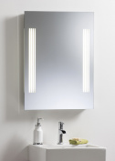 Bathroom Mirror ~ Illuminated With Sensor Switch Shaver And Demister 80x60 Yj20