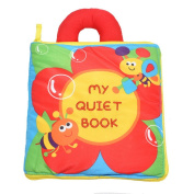 Wenasi Soft Book Preschool Crinkle Cloth Books,Handmade Educational Toys for Baby Toddler Boys and Girls as Gifts