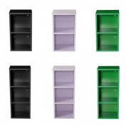 16mm Wooden Bookcase Shelves Bookshelf Storage Cd Display Unit Wood Cabinet