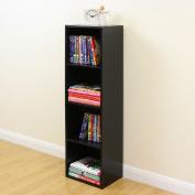 4 Tier Wooden Black Cube Bookcase Storage Display Unit Modular Shelving/shelv