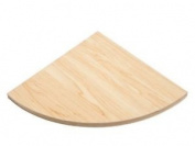 Natural Wooden Corner Shelf Unit Shelves Kit Wall Mounted Storage 200 X 200 X 16