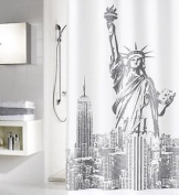 """Ms """"liberty"""" Shower Curtain 180cm Wide X 200cm High"""