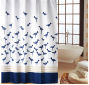 Famibay Shower Curtain Mould Proof Fabric Curtain For Bath Waterproof Bathroom