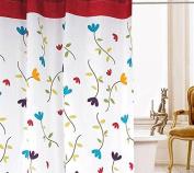 Beddingleer 120cm X 200cm Flora Design Quick-dry Fabric Shower Curtain Mildew