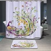 Beddingleer 3d Peacock Elegance 180cm X180cm Waterproof Mildewproof Fabric With