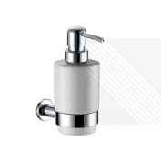 Ecospa Destiny Wall Mounted Ceramic & Chrome Soap Dispenser With Cream Finish
