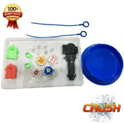 Battling Top Toy | Battling Top Set | Starter Set | Metal Fusion | Launchers and Arena Included | 4 Spinning Tops