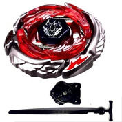 Poohjoy Beyblades High Performance Fight Master Mercury Brave Version Metal Fusion Beyblade Gyro toys 4D System + Luncher Red
