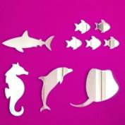 Sea Life Mirrors - Fish, Seahorse, Shark, Stingray & Dolphin