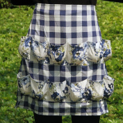 Hense Egg Gathering Apron With 12 Pockets, Perfect For Housewife And Farmer, Handmade with Cotton And Polyester Material