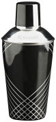 Viners Barware Collection Stainless steel lacquer Finish Cocktail Shaker, Black