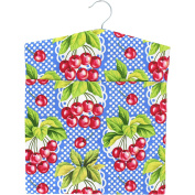 Wisconsin Cherry Laundry Peg Bag with Wooden Hanger