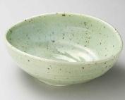 Mashiko Kinyo 24cm Large Bowl Green porcelain Made in Japan