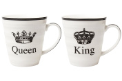King and Queen Porcelain Coffee Cups Tea Mugs