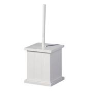 Bonsoni White Wooden Holder With Brush Toilet Brush Holder By Protege Homeware