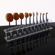 Make Up Brush Holder Dryer Display Shelf Stand Rack Toothbrush Storage Acrylic