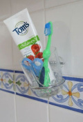 Stick 'n' Stay Instant Toothbrush Cup Holder