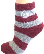 NCAA Montana Grizzlies Striped Fuzzy Lounge Socks