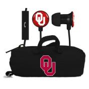 University of Oklahoma Sooners Scorch Earbuds + Microphone w/ BudBag