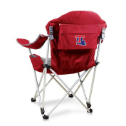 NCAA Louisiana Tech Digital Print Reclining Camp Chair, Red, One Size