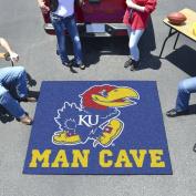"University of Kansas Man Cave Tailgater Rug 150cm ""x 72"""""
