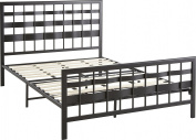 Flex Form Cormac Black Contemporary Metal Platform Bed Frame, Twin