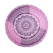 Mchoice Round Hippie Tapestry Beach Picnic Throw Yoga Mat Towel Blanket