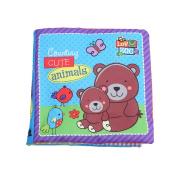 OrliverHL Baby Animal Cloth Book Infant Kid Intelligence Development Toy Bed Cognize Books