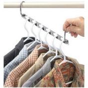 OrliverHL Magic Hangers Multi-function Drying Hanger Rack Space Saving Folding Clothes Hooks Wardrobe Organiser
