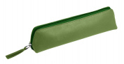 Lucrin - Pencil Case - Light Green - Smooth Leather