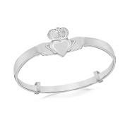 Tuscany Silver Sterling Silver Claddagh Baby Bangle