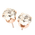 Rose Gold stud earrings expertly made with sparkling crystal from ®.