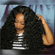Foxys' Hair 180%Hair Density Brazilian Curly Lace Front Wig Virgin Human Hair Wigs Thick Look 24nch