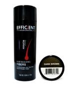 EFFICIENT Keratin Hair Building Fibres, Hair Loss Concealer Net Wt. 28gm / 30ml (Medium Brown) by EFFICIENT