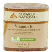 Clearly Natural Glycerine Bar Soaps Vitamin E, Vitamin E 3 bars by Clearly Natural